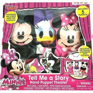 """Disney Minnie """"Tell Me a Story"""" Hand Puppet Theate"""